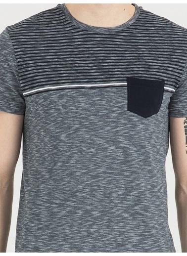 Loft Çizgili T-Shirt İndigo
